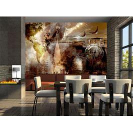 Tapeta - Symboly Brooklynu (150x105 cm) - Murando DeLuxe