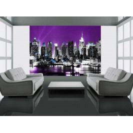 Fototapeta - fialový  New York (150x116 cm) - Murando DeLuxe