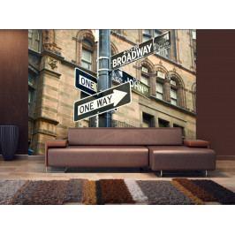 Fototapeta Cesta na Broadway (150x116 cm) - Murando DeLuxe