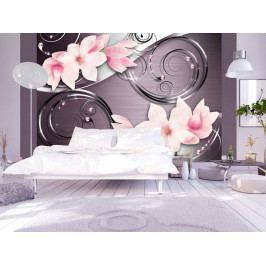 Magnolie na stříbře (150x105 cm) - Murando DeLuxe