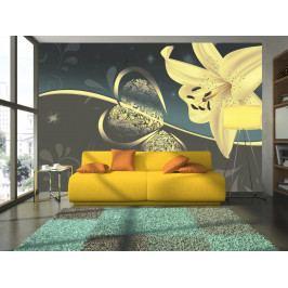 Tapeta žlutá lilie (150x105 cm) - Murando DeLuxe