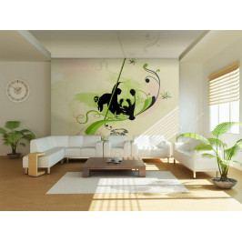 Panda v bambusovém lese (150x116 cm) - Murando DeLuxe