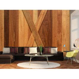 Tapeta Dřevěná kompozice (150x105 cm) - Murando DeLuxe