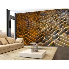 3D tapeta labyrint (150x105 cm) - Murando DeLuxe