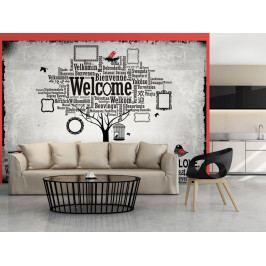 Tapeta na stěnu - vítejte doma (150x105 cm) - Murando DeLuxe