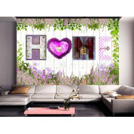 Tapeta vůně domova - levandulová (150x105 cm) - Murando DeLuxe