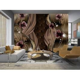 Vínové macešky (150x105 cm) - Murando DeLuxe