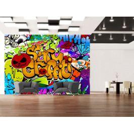 Fototapeta Scary graffiti (150x105 cm) - Murando DeLuxe