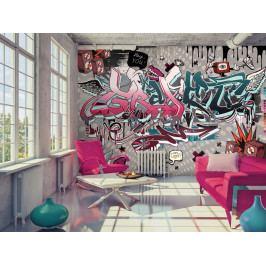 Tapeta Graffiti (150x105 cm) - Murando DeLuxe