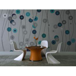 Modrý déšť (150x116 cm) - Murando DeLuxe