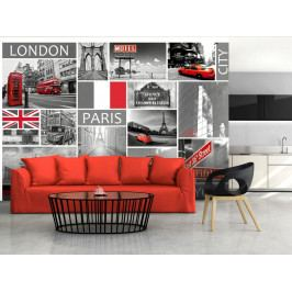 Tapeta London, Paris, Berlin, New York (150x105 cm) - Murando DeLuxe
