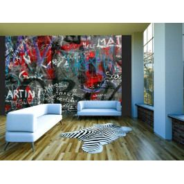 Retro graffiti (150x116 cm) - Murando DeLuxe