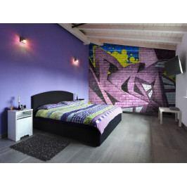 Graffiti - fialové (150x116 cm) - Murando DeLuxe