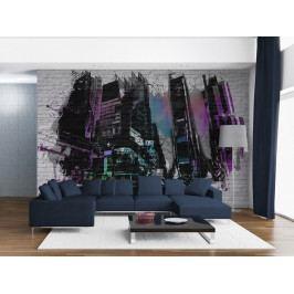 Tapeta - Abstraktní velkoměsto (150x116 cm) - Murando DeLuxe
