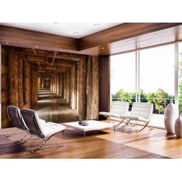 Dřevěný tunel (150x105 cm) - Murando DeLuxe