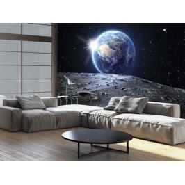 Pohled na planetu Zemi (150x105 cm) - Murando DeLuxe