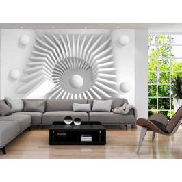 Tapeta - Bílá 3D (150x105 cm) - Murando DeLuxe