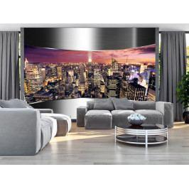 Panorama skrz ocel (150x105 cm) - Murando DeLuxe