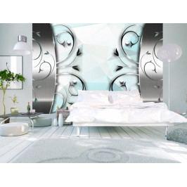 Tapeta stříbrná brána (150x105 cm) - Murando DeLuxe