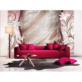 Tapeta Růžový klid (150x105 cm) - Murando DeLuxe