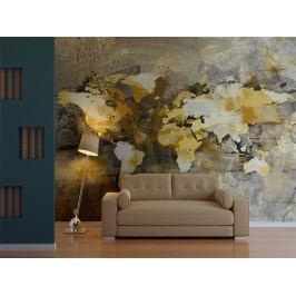 Umělecká mapa světa (150x116 cm) - Murando DeLuxe