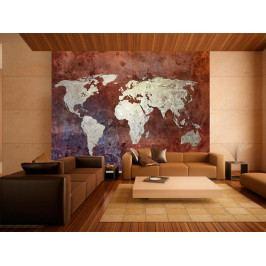 Tapeta - Železná mapa světa (150x116 cm) - Murando DeLuxe