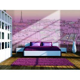 Růžová Paříž (150x116 cm) - Murando DeLuxe