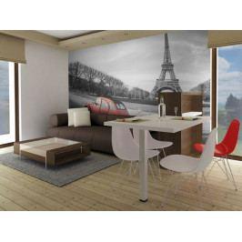 Paříž a červené auto (150x116 cm) - Murando DeLuxe