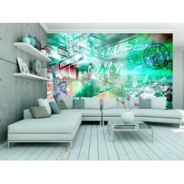 Zelený New Yorker (150x105 cm) - Murando DeLuxe