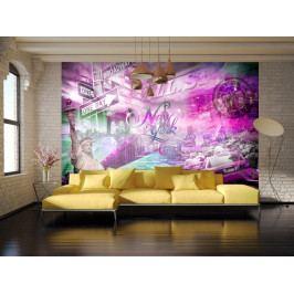 Růžový New York (150x105 cm) - Murando DeLuxe