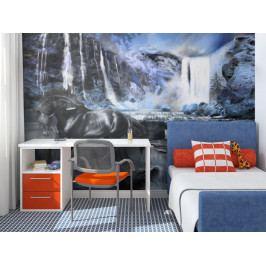 Tapeta safírový vodopad (150x116 cm) - Murando DeLuxe