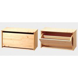 Dřevěný botník nízký - GA