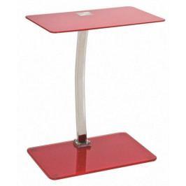 Odkládací stolek červený - CS