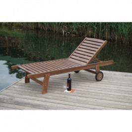 Dřevěné venkovní lehátko-UZN