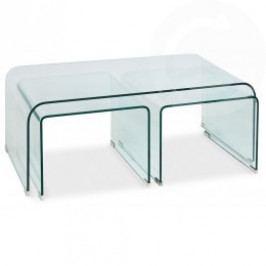 Skleněný konferenční stolek větší - CS
