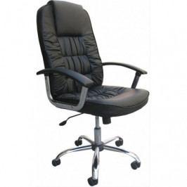 Kancelářská židle černá koženka- ADK