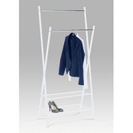 Bílý chromový stojan na šaty - AT