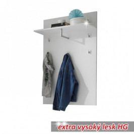 Věšáková stěna na oblečení s policí - TK