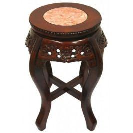 Květinový stoleček ze dřeva hnědý - GDD