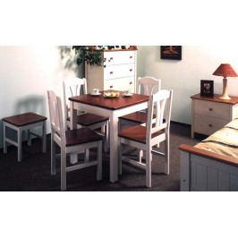 Jídelní stůl čtverec bílo-hnědý-GA