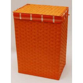 Oranžový provázkový koš na prádlo - MAČ