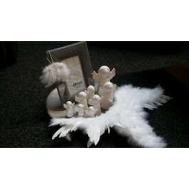 Bílý keramický andílek - BS