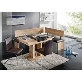 Rohová lavice s laminátovým opěrákem - IK