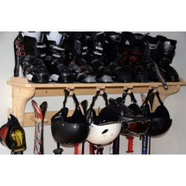 Stojan na lyže s praktickou policí na lyžáky - HDB