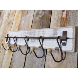 Dřevěný retro věšák s háčky - PHG