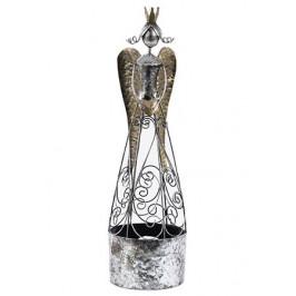 Anděl kovový stříbrný - AT