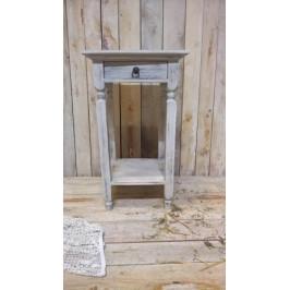 Dřevěný odkládací stolek se zásuvkou - PHG