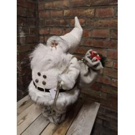 Bílý vánoční Santa klaus s dárky - Sim