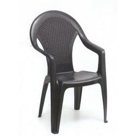 Zahradní plastová židle s područkami - UZN