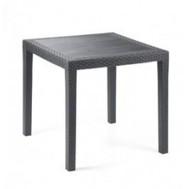 čtvercový zahradní plastový stůl - UZN